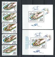 Russie N°5523/27+Bloc 201 Et 203** (MNH) 1988 - J.O De Séoul - Neufs