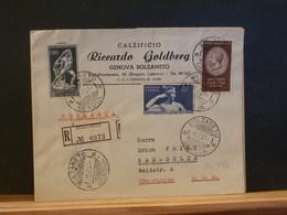 83/490 LETTRE  ITALIE  RECOMM. 1957 POUR DDR - 1946-.. République