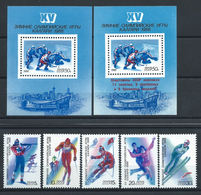 Russie N°5474/78+Bloc 197 Et 199** (MNH) 1988 - J.O De Calgary - 1923-1991 USSR