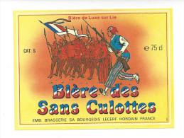 Etiquette De   Bière De Luxe  -  Des Sans Culottes  -  Brasserie Bourgeois Lecerf  à  Hordain   (59) - Bière
