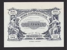 Bon Commercial De 100 Francs De La Villes De Tours - Bonds & Basic Needs