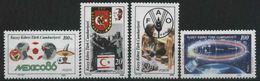 1986 Cipro Del Nord, Anniversari E Avvenimenti, Serie Completa Nuova (**) - Nuovi