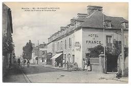 Cpa...Manche...Saint-Vaast-la-Hougue...hotel De France Et Grande Rue ...animée... - Saint Vaast La Hougue