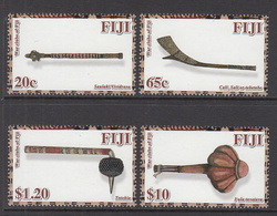 2011 Fiji War Clubs Archaeology   Complete Set Of 4 MNH - Fiji (1970-...)