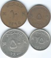 Oman - Qaboos - 5 (1975 - KM50), 10 (1975 -  KM51), 25 (1990 - KM45a) & 50 Baisa (1980 - KM46a) - Oman