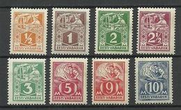 Estland Estonia 1922/25 Michel 32 - 39 A * Different Paper & Gum Types - Estonie