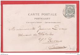 CP TP 81  Obl AMBULANT HERBESTHAL BRUXELLES  2 Vers St Servais NAMUR  Le 2 III 1902  - Indice C - Marcophilie
