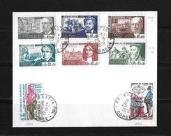 1970 Frankreich →  Michel 1707-09 / 1996-98 / 1702, 1706 Sur Lettre - France