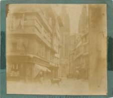 PHOTO COLLEE SUR SON CARTON D'ORIGINE QUIMPER RUE KEREON 1878 - Orte