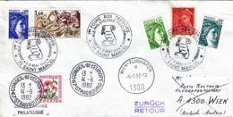 FRANCE - 1982 - Conseil De L'Europe - Lettre De Saint Marcel  Pour Vienne Puis Strasbourg En Poste Rest. - Foire - France