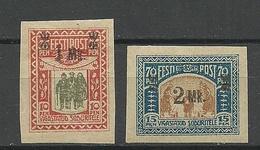 Estland Estonia 1920 Michel 25 - 26 * - Estonie