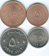 Oman - Qaboos - 5 (2008 - KM150); 10 (2008 - KM151); 25 (1999 - KM152) & 50 Baisa (1999 - KM153) - Oman