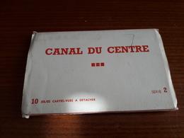 Carnet Lot 10cp Canal Du Centre La Louvière Houdeng Aimeries Bracquegnies Thieu - La Louvière