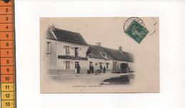 45 GUIGNEVILLE CAFE DE LA PLACE  BARAILLON G  En 1908 - Frankrijk