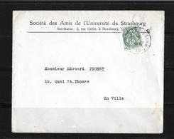 1925 Frankreich →  Société Des Amis De L'Université De Strasbourg - France