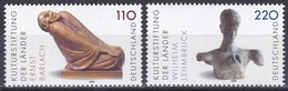 Deutschland Germany BRD 1999 Kunst Arts Kultur Culture Skulpturen Sculptures Kunstwerke Barlach Lehmbruck, Mi. 2063-4 ** - Ungebraucht