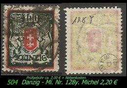 Mi. Nr. 128 Y - Gebraucht - Geprüft - DANZIG 5 C - Danzig