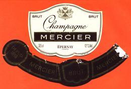 étiquette + Collerette De Champagne Brut Mercier à épernay - 37,5 Cl - Champagne