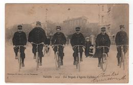 **CPA - 13  -  Marseille -  1052 - Une Brigade D'agents Cyclistes - Lacour - Marseille