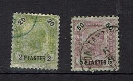 AUSTRIA...early Issues..offices In Turkey...#26-27 - Eastern Austria