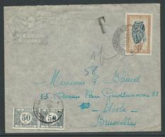 Brief Verstuurd Uit Luluabourg Congo 4.9.1949 En Getaxeerd - Taxes