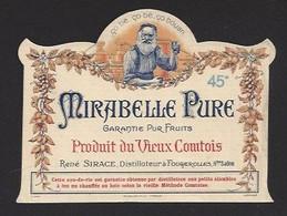 Etiquette  D'eau De Vie  -   Mirabelle Pure  -  René Sirace  à  Fougerolles  (70) - Etiquettes