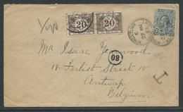 Brief Verstuurd Uit Kingstown St Vincent Op 27.8.1922 En Getaxeerd - Tasse