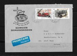 """2003 Frankreich →  """"Schweizer Seemannsmission"""" Lettre Marseille à Thun/Suisse - France"""