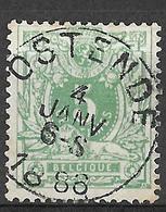 8S-437:N°45: E9: OSTENDE - 1869-1888 Liggende Leeuw