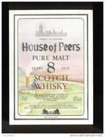 Etiquette De Scotch  Whisky  -  Housse Of Peers  -  Ecosse - Whisky