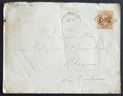 1869 Cover, Tolouse - Blagnac France, Republique Française, Used - 1863-1870 Napoléon III. Laure