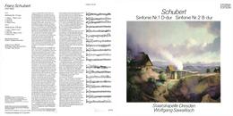 Superlimited Edition CD Wolfgang Sawallisch&Staatskapelle Dresden. SCHUBERT. Sinfonien NN 1 D-dur, 2 B-dur. - Classical