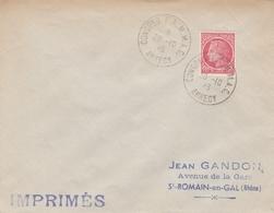OBLIT. TEMPORAIRE CONGRES FAMMAC - ANNECY 10/46 - MARINS/COMBATTANTS/ GANDON - Bolli Commemorativi