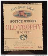 Etiquette Scotch  Whisky    -  Old Trophy  -  Ecosse - Whisky