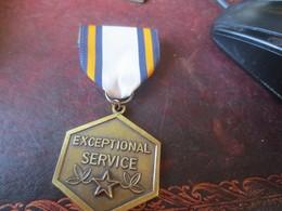 Médaille - EXCEPTIONAL SERVICE - TRES BELLE - VOIR PHOTOS - USA