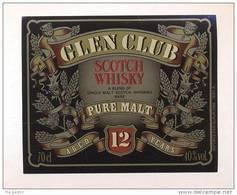 Etiquette De Scotch  Whisky  -  Glen Club  -  Ecosse - Whisky