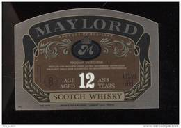 Etiquette De Scotch  Whisky -  Maylord    -   Ecosse - Whisky