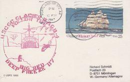USA 1987 Big Red Deep Freeze Postcard Ca Portland 12 May 1987 (41914) - Poolshepen & Ijsbrekers