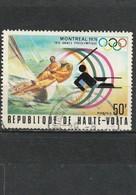Haute Volta Oblitéré  1976  N° 378  Sport. Année Préolympique Montréal 1976.  Voile - Haute-Volta (1958-1984)