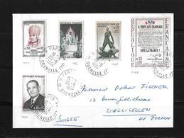 1964 Frankreich → Lettre Avec MI. Nr.1464/65 & 1479/82/84 à Wallisellen/Suisse - France