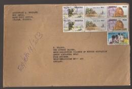 8928-Nigeria – Cover To England  -  Scott 615E +615C+others – Topic Animals - Nigeria (1961-...)
