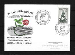 1964 Frankreich → Colloque Européen Des Postiers Anciens Combattants - France
