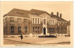 Cpa...Saint-Omer...(P.-de-C.)...le Bureau Des Postes Et Télégraphes Et Téléphones..1939... - Saint Omer