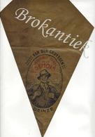 VAN DER CRUYSSEN  Tabak  DEINZE  Verpakking (frietzak) Tabak SEMOIS Lythographie +/- 1900 - Plaques Publicitaires
