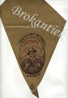 VAN DER CRUYSSEN  Tabak  DEINZE  Verpakking (frietzak) Tabak WERVICQ Lythographie +/- 1900 - Plaques Publicitaires