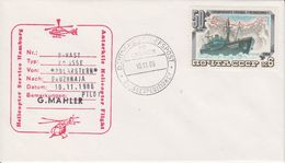 Russia 1986 Heliflight From Polarstern To Base Druzhnaja 10.11.86 Cover (41917) - Polar Flights