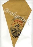 VAN DER CRUYSSEN  Tabak  DEINZE  Verpakking (frietzak) Tabak HARELBEKE Lythographie +/- 1900 - Plaques Publicitaires