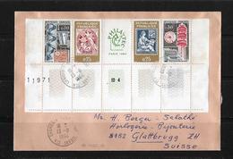1964 Frankreich → Paris 1964 Phila Tec, Lettre à Glattbrugg/Suisse ►Mi.Nr.1467-70◄ - France
