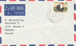 Australia Air Mail Cover Sent To Denmark 12-6-1979 Single Franked (cover Damaged On Backside By Opening) - Airmail