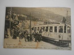 """Suisse. Gare De Monthey. Arrivée  Des Prisonniers Français Malades"""" Départ Pour Morgins, Mai 1916 (8003) - VS Valais"""